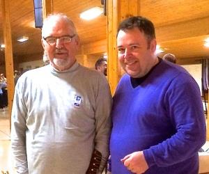 Norgesmesteren Gerald Twell, til venstre.