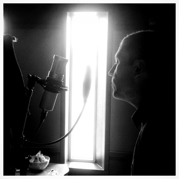 Alex ONETAKE Rinde i Ocean Sound Recordings. Foto: Rune Berg